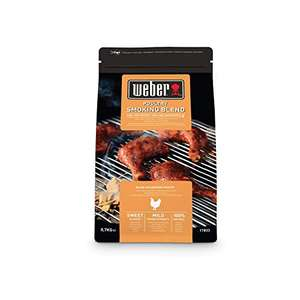 Weber Smoking Wood Chips Poultry Blend (17833) £5.31 700g Prime + £4.49 NP (UK Mainland) Sold by Amazon EU @ Amazon