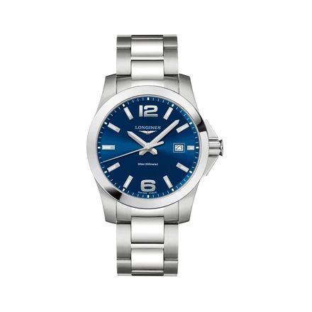 Longines Men's Conquest 41mm Quartz Watch-Blue - £510 @ Francis & Gaye
