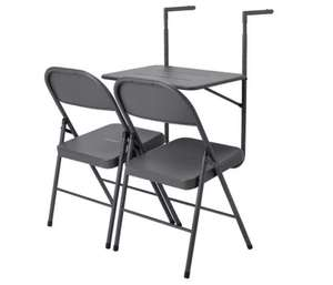 Home Space Saving 2 Seater Balcony Bistro Set Now £36 + £3.95 Delivery From Argos