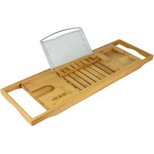 M&W Extendable Bamboo Bath Caddy (extendable from 70cm-100cm) for £16.44 delivered @ Roov