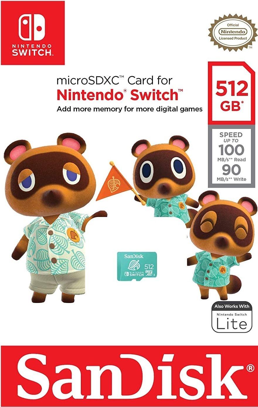 SanDisk microSDXC Card for Nintendo Switch 512GB Animal Crossing Green - £79.99 @ Amazon