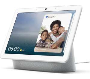 GOOGLE Nest Hub Max (Chalk or Charcoal) now £189 at Currys PC World (possibly £165, with 15% TCB)