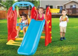 Dolu 4-in-1 Playground now £131.99 using code + FREE Delivery @ The Entertainer
