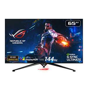 ASUS ROG STRIX Curved PG65UQ, 65 Inch UHD (3840 x 2160) Gaming Monitor, Up to 144 Hz, G sync - £3199 @ Amazon