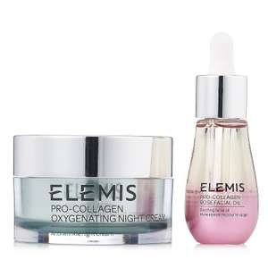 Elemis Pro-Collagen Overnight Hydration Duo £59.88 (£3.95 delivery) @ QVC