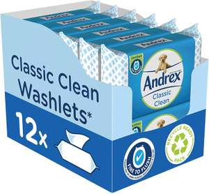 Andrex washlets 12pk £8.38 @ Costco