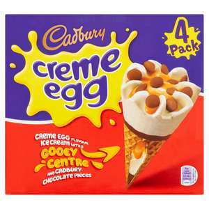 Creme Egg Cones 4 x 100ml / Creme Egg Ice Creams 3 x 100ml - £1 (+ Del Charge and Min Spend Applies) @ Iceland