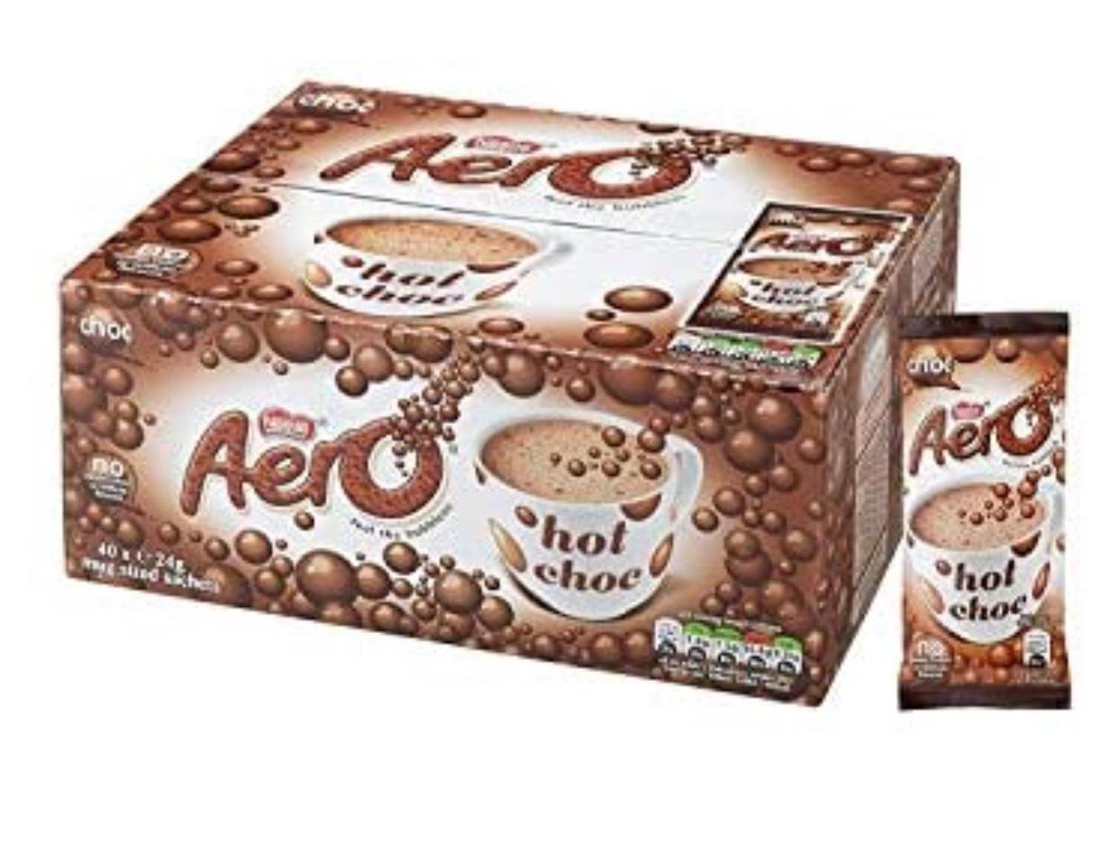 Nestlé Aero Hot Chocolate 40 X 24g - £7.50 (+£4.49 Non-Prime) @ Amazon