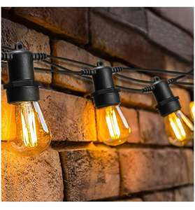 128ft Outdoor LED Garden String Lights, OxyLED IP65 Waterproof 40 LED Bulb String £50.10 Sold by TSMART and Fulfilled by Amazon