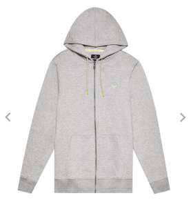 Light Grey Zip Through Embroidered Hoodie £10.80 delivered with code @ Burton