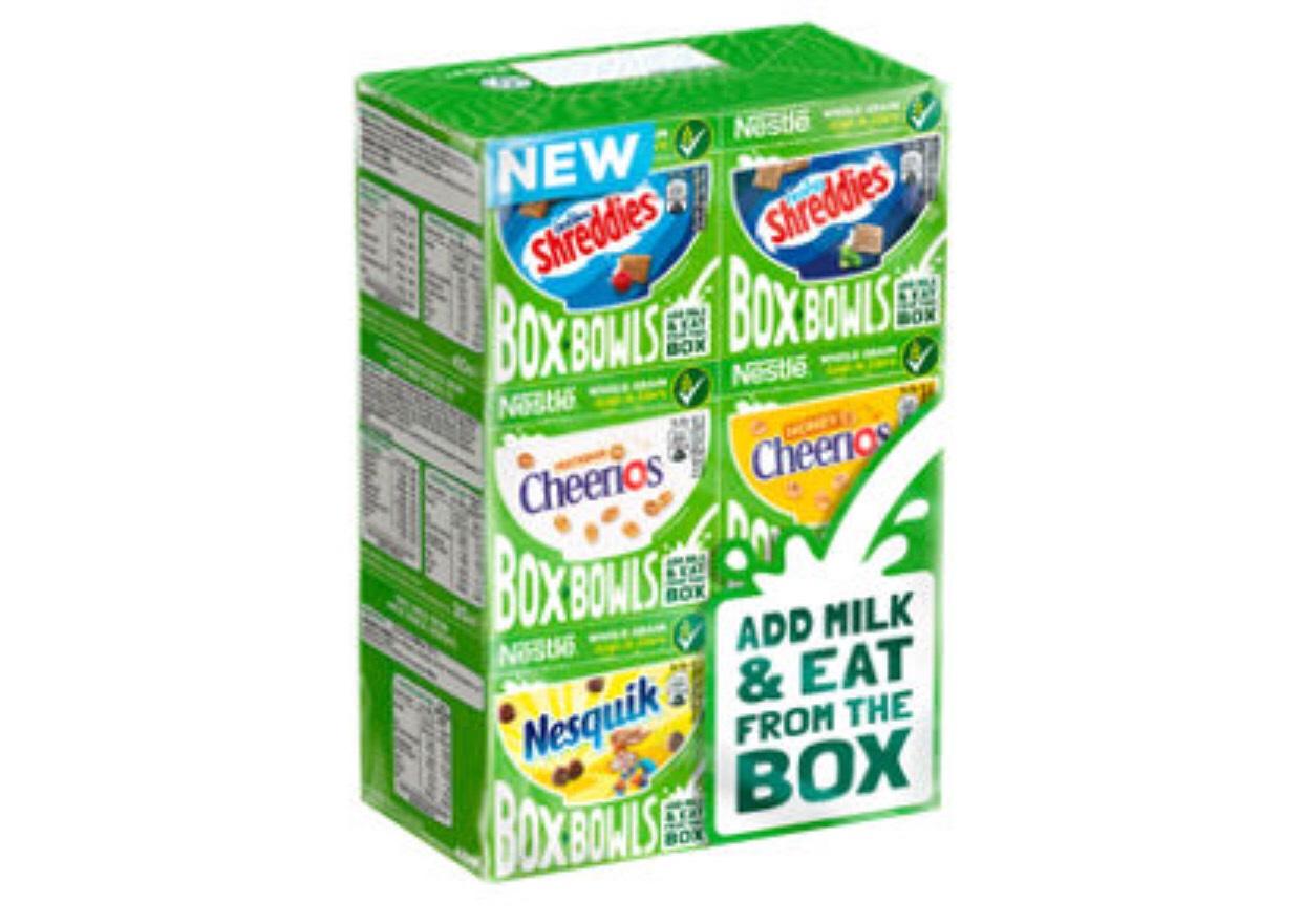 Nestle Box Bowls Cereal 6 Pack 210g £1 (Minimum Basket / Delivery Fees Apply) @ Asda