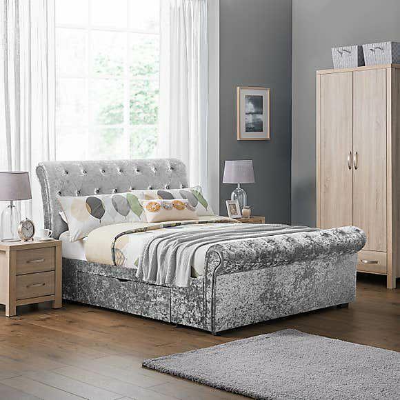 Verona Velvet Bed Frame - (Double 4ft 6 - £423.20/ King 5ft - £447.20) + £9.95 Delivery @ Dunelm