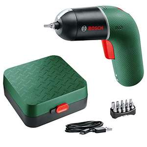 Bosch Cordless Screwdriver IXO 6th Generation green, variable SPEED CONTROL rechargeable with micro USB-cable in storage case £35.49 Amazon