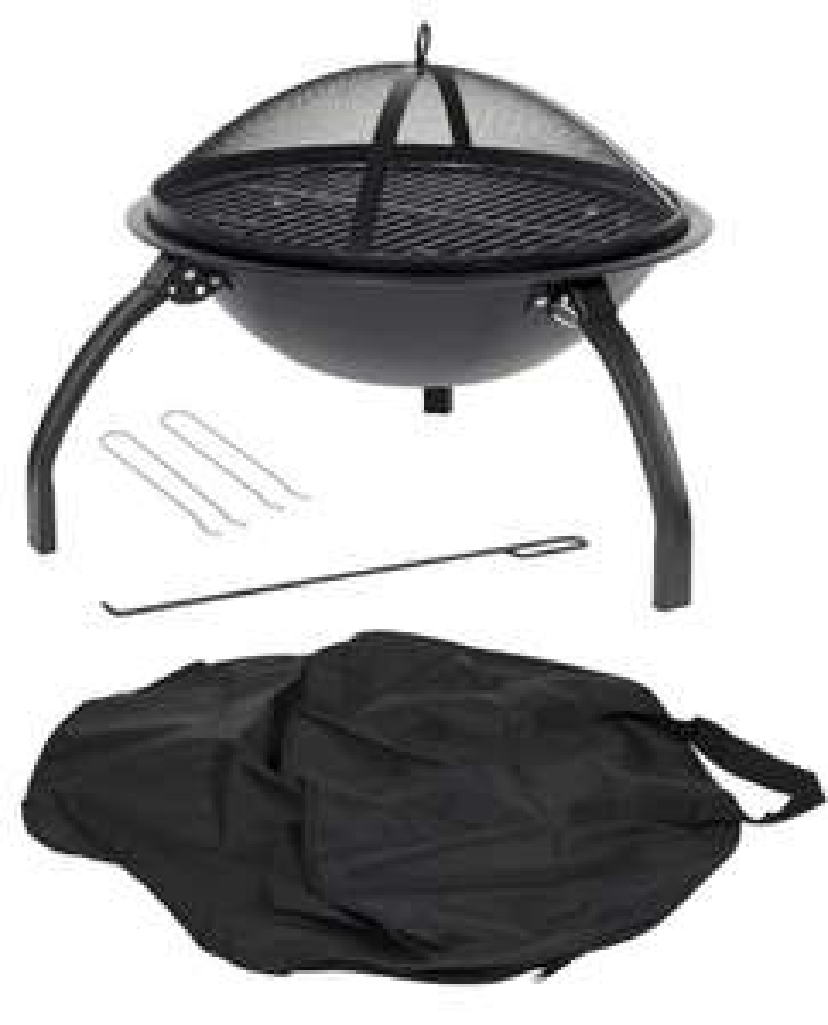 La Hacienda 58106 Camping Fire Pit & BBQ - £49 @ Amazon