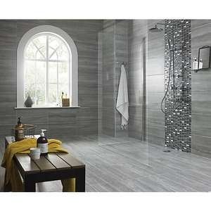 Wickes Everest Slate Porcelain Wall & Floor Tile 600 X 300mm for £11.88 per pack plus £7.95 delivery @ Wickes