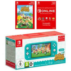 Nintendo Switch Lite Turquoise OR Coral + Animal Crossing New Horizons + Nintendo Switch Online 3 Months Membership - £197.59 @ ShopTo eBay