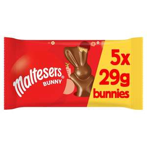 Malteaser Bunny 5 Pack 145g £1.25 (+ Delivery Charge / Minimum Spend Applies) @ Tesco