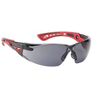 Bolle RUSHPPSF Rush Plus Safety Glasses Spectacles Red/Black £3.87 Prime / £10.52 nonPrime at Amazon