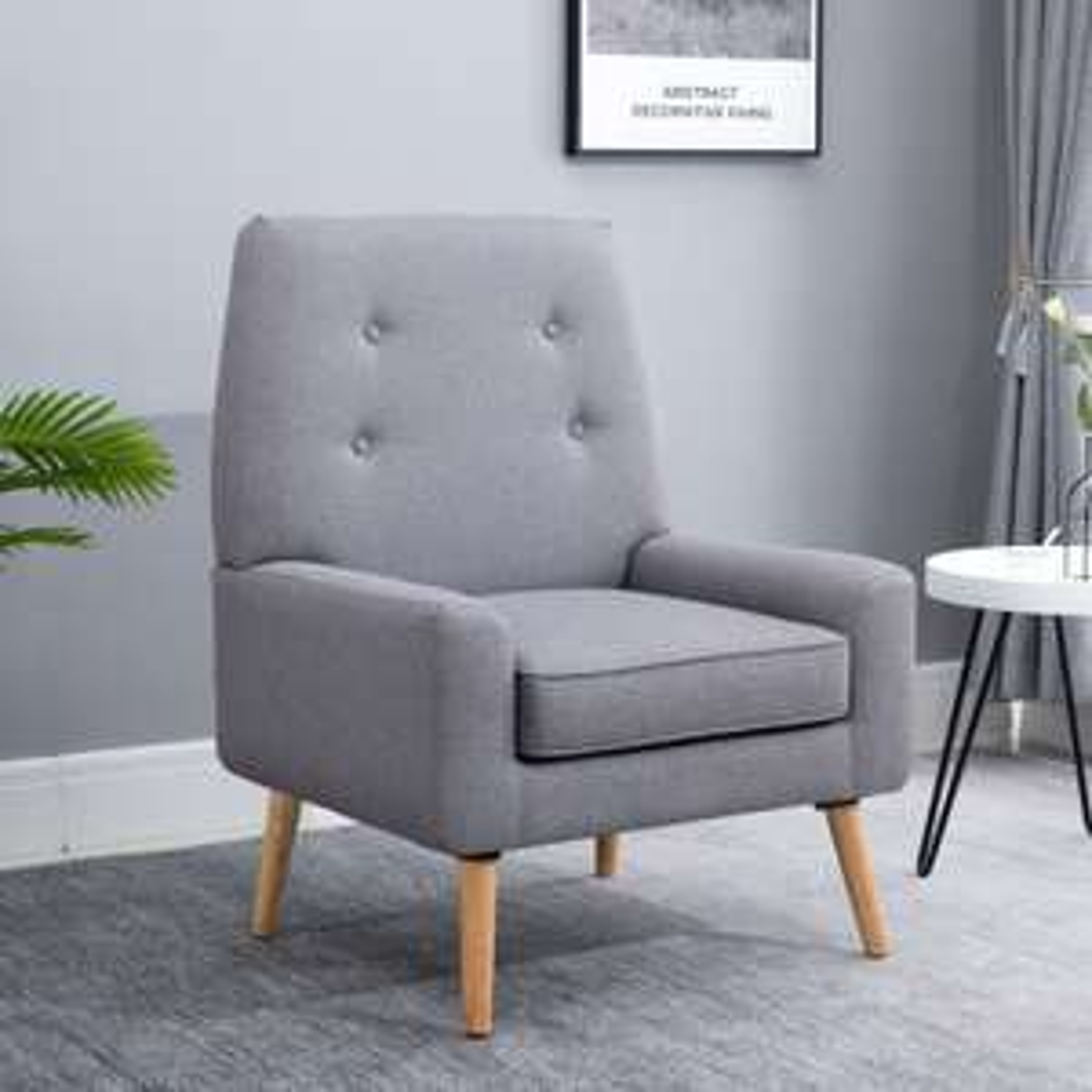 Nordic Cushion Padded Wooden Armchair £75.99, using discount code @ eBay / MHStar