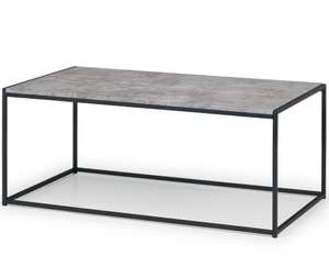 Staten Coffee Table - Concrete/Black £134.99 + £19.95 delivery at The Range