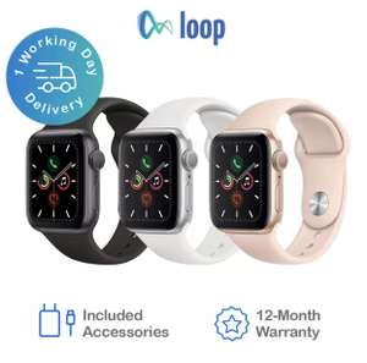 (Stainless Steel) - Apple Watch Series 5 Cellular 40mm & 44mm - Various Grades - C £231.96, B £255.96 @ loop_mobile / eBay
