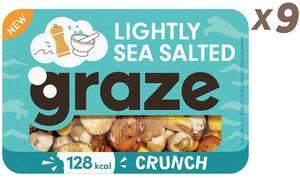 Graze Lightly Sea Salted Crunch 31g each/pack of 9 - £5.62 prime / £10.11 nonPrime @ Amazon UK