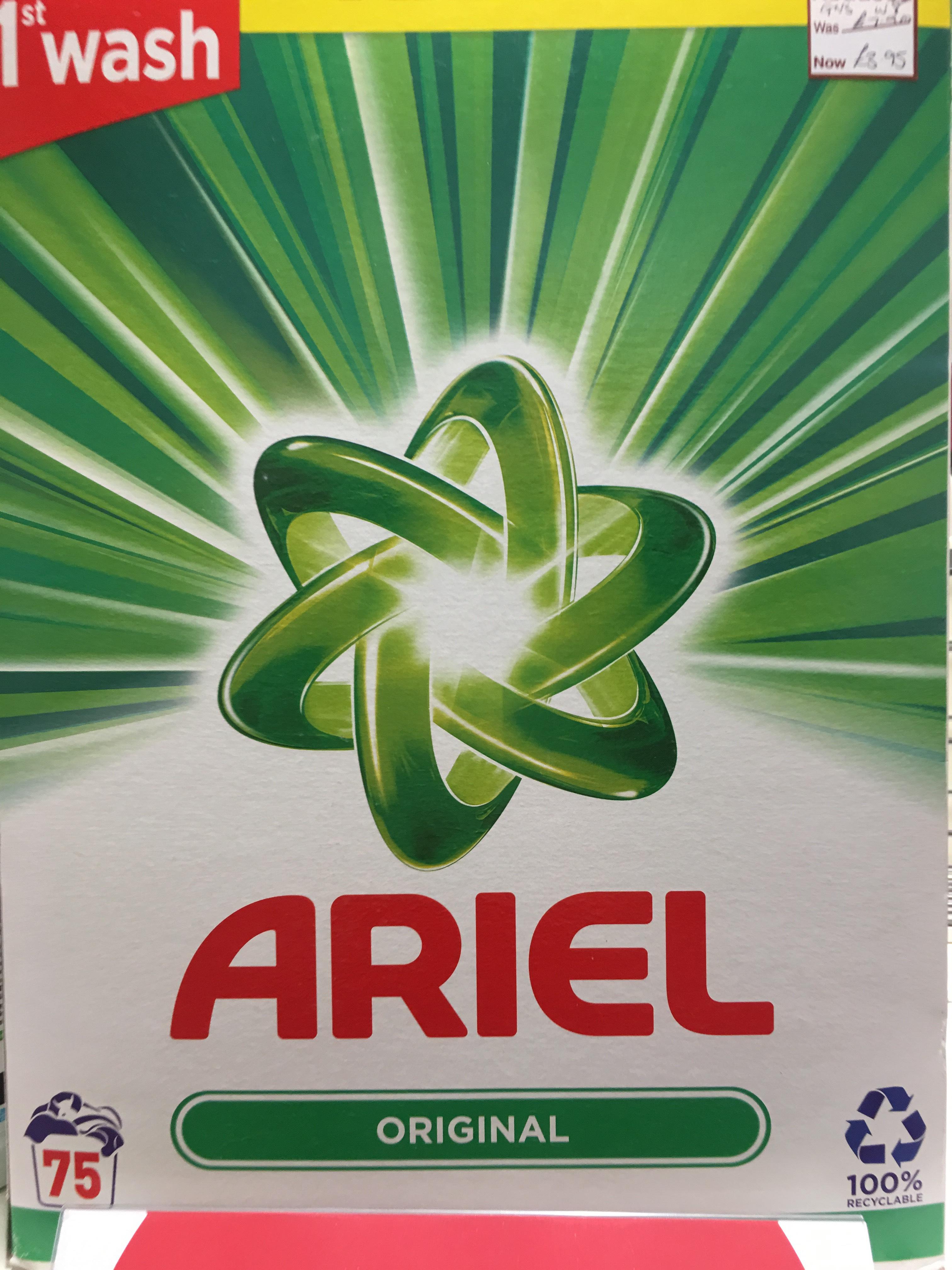 Ariel Original Washing Powder 75 Washes £3.95 @ Wilko sutton