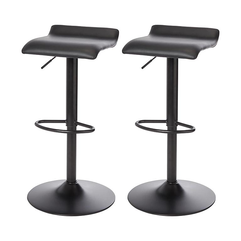 B&Q Karonda Black Adjustable Swivel Bar stool, Pack of 2 £54 @ B&Q