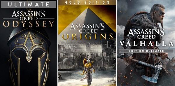[PC] Assassin's Creed Odyssey Ultimate at £7.87 - Origins Gold at £8.25 - Valhalla Standard at £20.61 & More (Via Brazil VPN) @ Epic Games