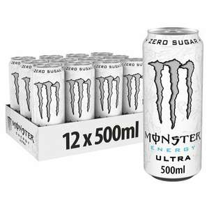 Monster Energy Ultra Drink 12 x 500ml £9.00 (+ Delivery Charge / Minimum Spend Applies) @ Tesco