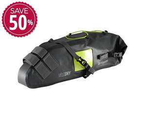 OverBoard Velodry waterproof (IP66) cycling saddle bag £39.99 (£3.95 delivery) @ Over Board