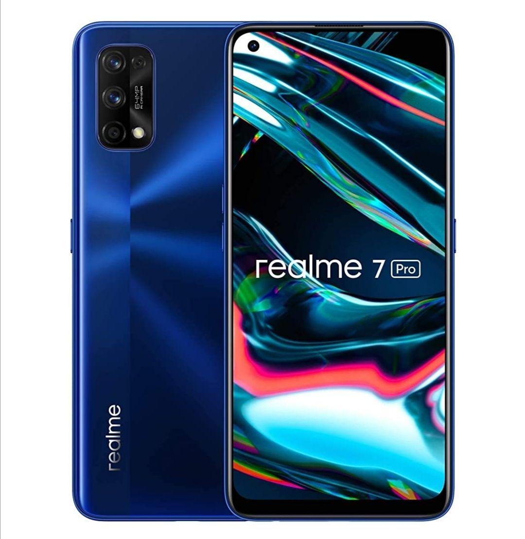 Realme 7 Pro Mirror Blue Sim Free Smartphone (Dual Sim/4500mAh/AMOLED/65W Dart Charge) - £228.99 @ Amazon