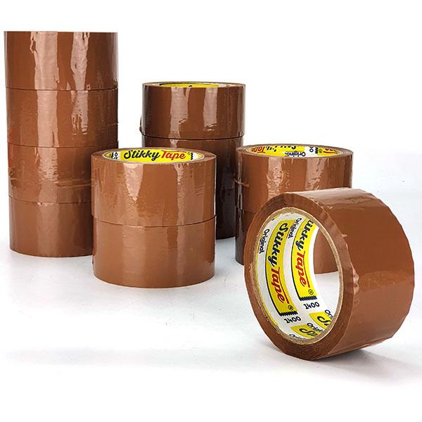 12 x Rolls Of Original Stikky Strong Brown Packaging Tape £9 delivered @ Yankee Bundles