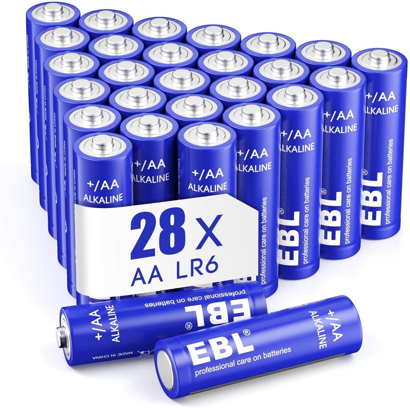 EBL AA Batteries 1.5V AA Alkaline Everyday AA Battery Batteries - Pack of 28 (£4.70 Very Good/£4.95 Like New) + £4.49 NP @ Amazon Warehouse