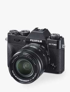 Fujifilm X-T30 18-55 Black Only - £899 delivered @ John Lewis & Partners