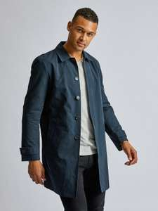 Burton Menswear London Mens Blue Core Mac Coat Jacket Top Outwear Overcoat - £18.39 Delivered (With Code) @ Burton Menswear London / eBay