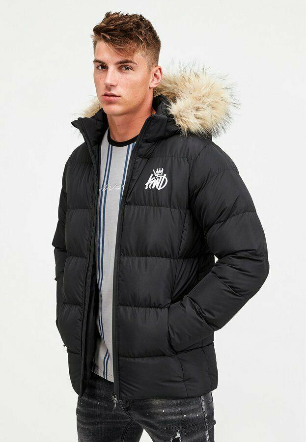 KINGS WILL DREAM - Mens Trayor Fur Puffer Parka Jacket (Black) - £31.99 Delivered (With Code) @ footasylumoutlet / eBay