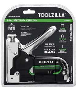 TOOLZILLA® Heavy Duty Staple Gun & Staple Selection Pack - £11.24 Prime / +£4.49 non Prime Sold by BAHV COMMERCE LTD & Fulfilled by Amazon