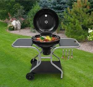 Deluxe Charcoal Trolley BBQ Garden Patio Barbecue Grill Heating Heat With Wheels - £149.99 delivered @ 2011homcom / eBay