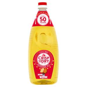 Crisp 'n Dry Simply 100% Rapeseed Oil 2l, £2.00 (+ Delivery Charge / Minimum Spend Applies) @ Asda