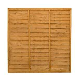 Traditional Lap Fence panel (W)1.83m (H)1.83m - £19.20 each with 20% off / £24.20 delivered @ Trade Point (B&Q)