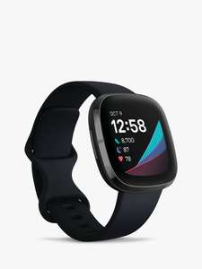 Fitbit Sense, Health and Fitness Watch with Heart Rate Monitor, Carbon/Graphite & Google Nest Mini- £244 delivered @ John Lewis & Partners