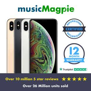 Apple iPhone XS Max - 64GB 256GB 512GB - Unlocked Smartphone Various Colours - £298.60 delivered using code @ Music Magpie / eBay