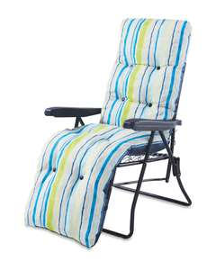 Gardenline Striped Relaxer/Recliner Chair incl Cushion £27.94 delivered @ Aldi