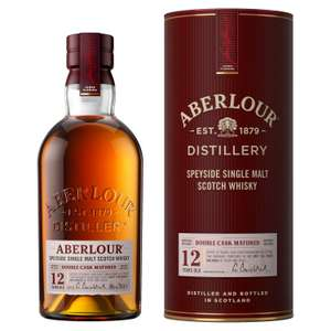 Aberlour 12-yr Single Malt Whisky 70cl for £29 (min purchase / delivery charge applies) at Sainsburys
