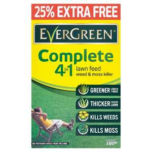 Evergreen Complete 4 in 1 Lawn feed 100 Sqm - £6.40 Clubcard price (Minimum Basket / Delivery Fees Apply) @ Tesco