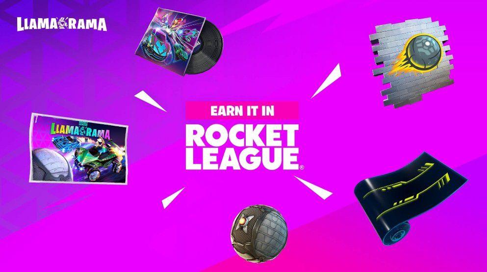 Fortnite Rocket League llama Rama event free rewards