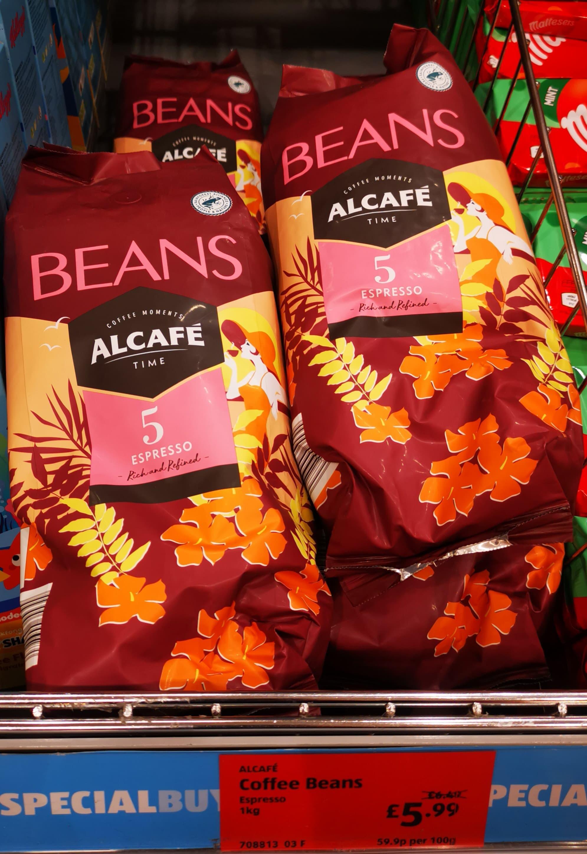 Alcafé Espresso 1kg Coffee Beans - £5.99 In Store @ Aldi (High Street, Glasgow)