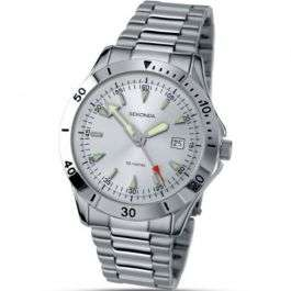 Men's Sekonda sports style watch with date display and stainless steel bracelet for just £21.59 at GB Watch Shop