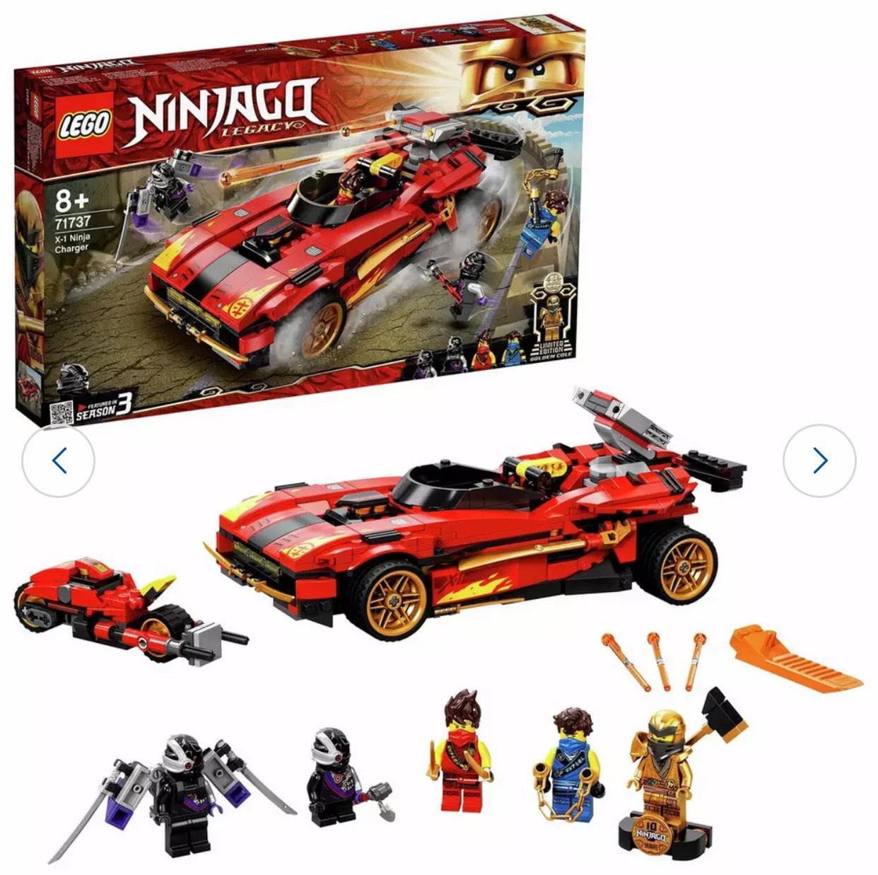 LEGO NINJAGO Legacy X-1 Ninja Charger Building Set 71737 £36/ 71736 £28 71735 £22 free c&c at Argos